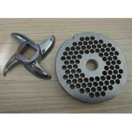 Grinding Plate and Cross knife Meat grinder one-sided
