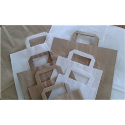 Paper carrying Bags White 180x80x220mm