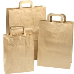 Paper carrying Bags Brown 260x120x350mm