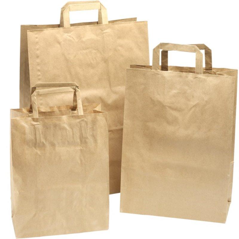 Paper carrying Bags Brown 320x150x430mm - Horecavoordeel.com