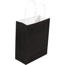 Paper carrying Bags Black 180x80x220mm