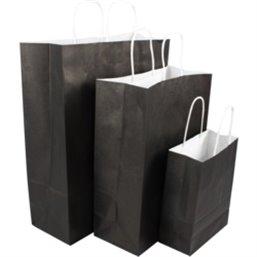 Paper carrying Bags Black 26x12x35mm - Horecavoordeel.com