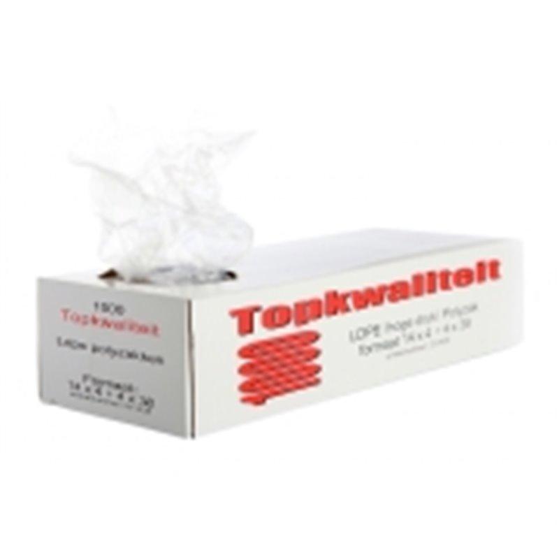 Poly- Zakken met Zijvouw LDPE 16+2 x 5 x 50cm 18my Horecavoordeel.com