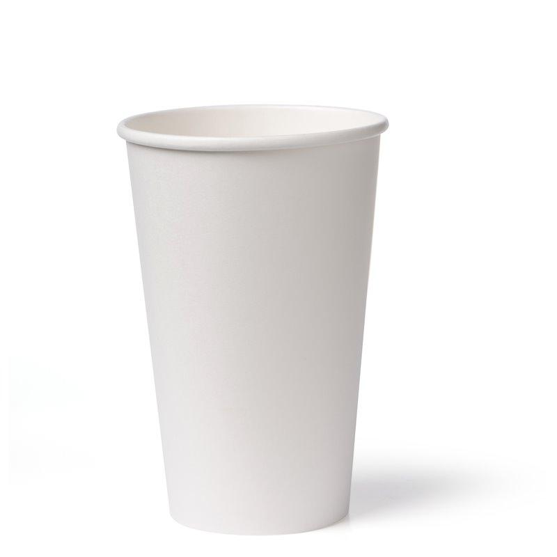 Koffiebekers To Go 340cc 12oz Wit Karton Ø 90mm (Klein-verpakking) Horecavoordeel.com