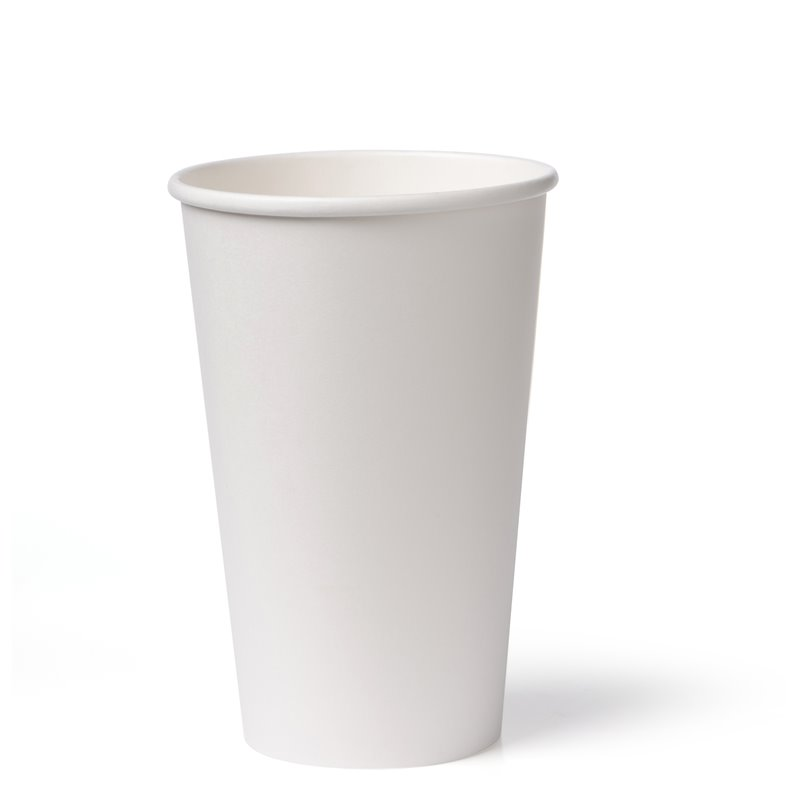 Koffiebekers To Go 450cc 16oz Wit Karton Ø 90mm Horecavoordeel.com