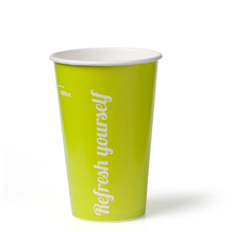 Milkshake Cup 0.4l Krt (90mm) Refresh Yourself Lime - Horecavoordeel.com