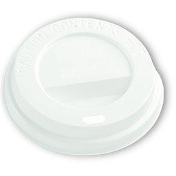 Deksels Wit voor Koffiebekers To Go 6oz Ø 71mm (Klein-verpakking) Horecavoordeel.com