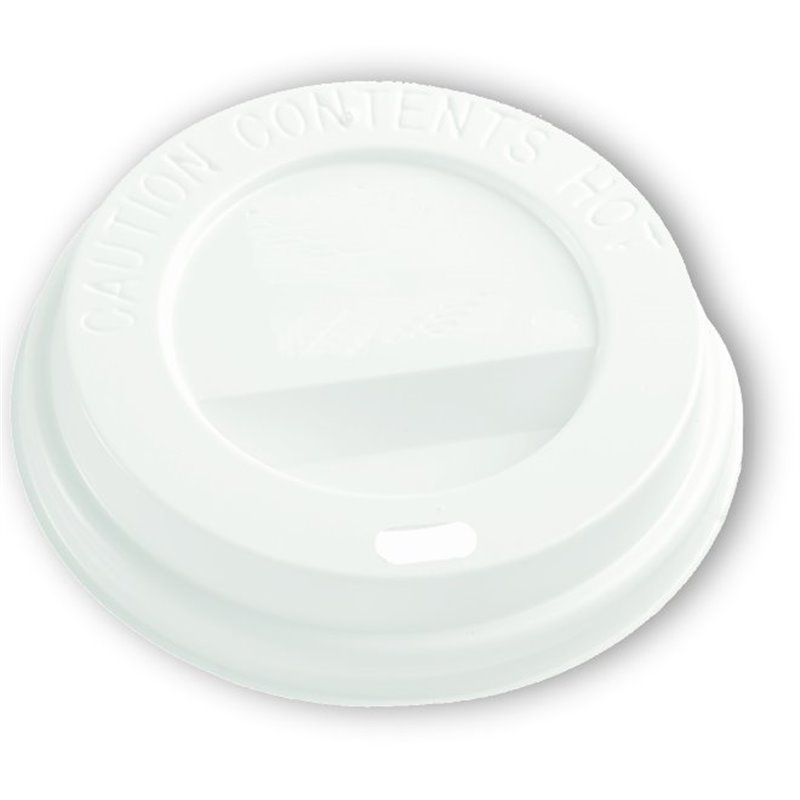 Lid for Coffee To go Cup 6oz white (Small package) - Horecavoordeel.com