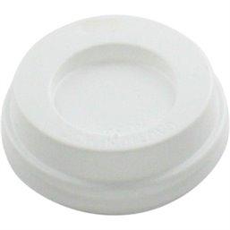 Deksels Wit voor Koffiebekers To Go 4oz Ø 63mm (Klein-verpakking) Horecavoordeel.com