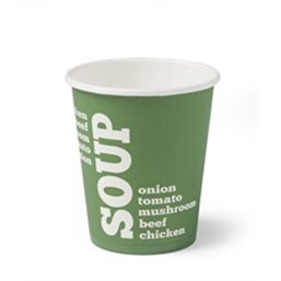 Paper Soup Cup green 250cc-9oz