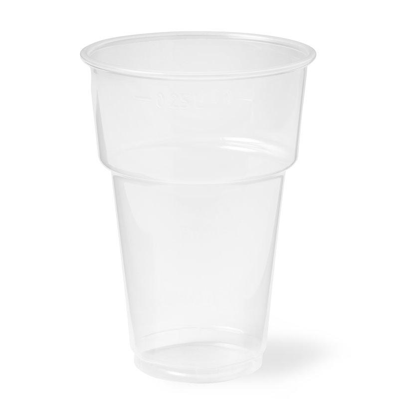 Beer glass Proppy 70,3mm 200 - 250cc transparent (Small package) - Horecavoordeel.com