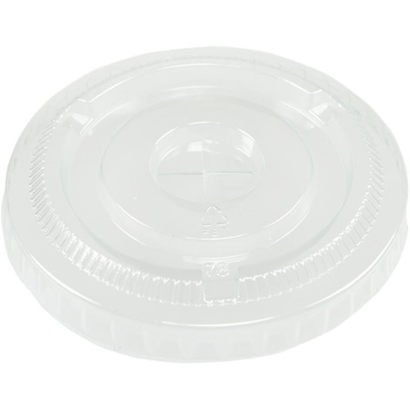 Lids Transparent Flat X-slot for 9oz Beer glass  - Horecavoordeel.com