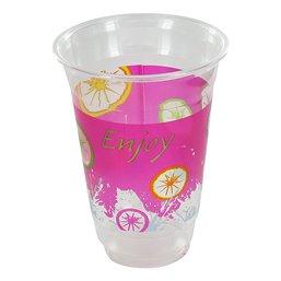 Milkshake Cup Plastic Printed Enjoy 300cc