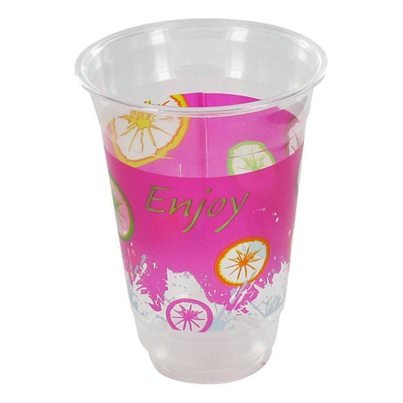 """Milkshake Bekers 500ml Plastic """"Enjoy""""  Horecavoordeel.com"""