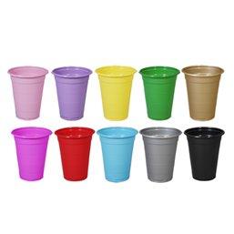 Plastic Drink Cup Silver 180cc  - Horecavoordeel.com