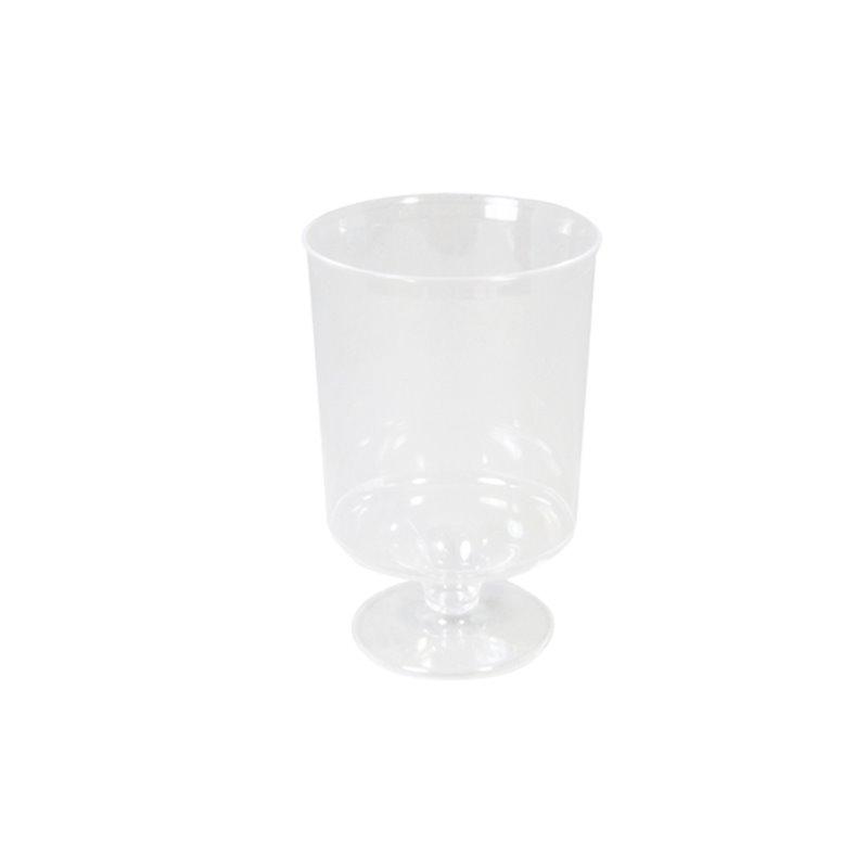 Plastic Wineglass Transparent 150cc - Horecavoordeel.com
