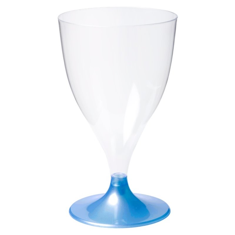 Wineglass on separate blue foot 160cc (Small package) - Horecavoordeel.com