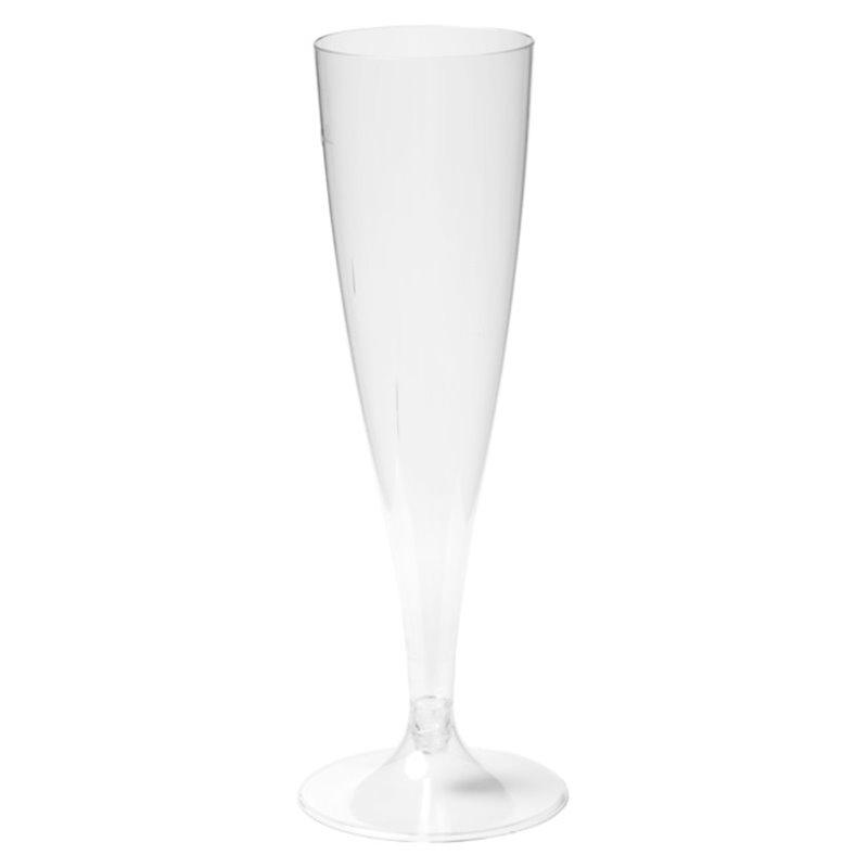 Champagne flute on separate foot 100cc  - Horecavoordeel.com