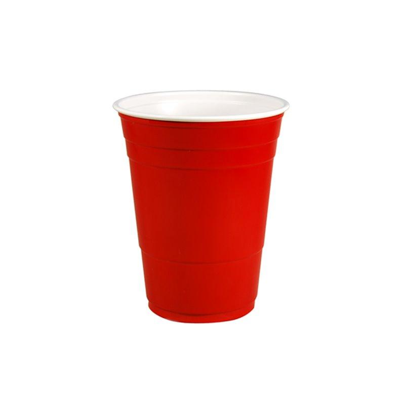 Cup Plastic Party Cup red 473cc-16oz - Horecavoordeel.com