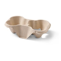 Carrying tray 2 holes Pulp Biodegradable