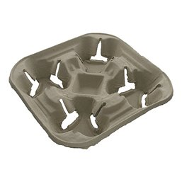 Carrying tray 4 holes Pulp Biodegradable