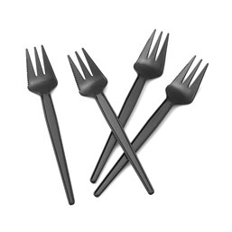 Snack fork Black with cutting edge 135mm - Horecavoordeel.com