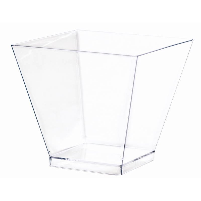 Kova tray transparent 6cl 50x50xH45mm  - Horecavoordeel.com