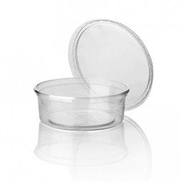 Salad trays - containers 101 Series Round 125cc Transparent 101/27