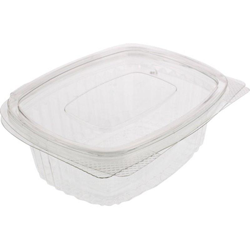 Saladbowl 500cc rectangular Transparent Leakprowith (Small package) - Horecavoordeel.com