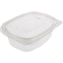 Saladebakken 1000cc Rechthoek Transparant Lekdicht (Klein-verpakking)