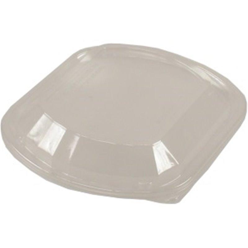 Deksels voor Maaltijdtray Plastic Hoog 1-Vak Transparant 238 x 203 x 32mm Horecavoordeel.com