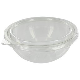 Saladbowl 2000cc Plastic Transparent with Lids (Small package) - Horecavoordeel.com