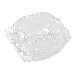 Hamburgerbakken Plastic Transparant Pactiv Clear View 133 x 64mm