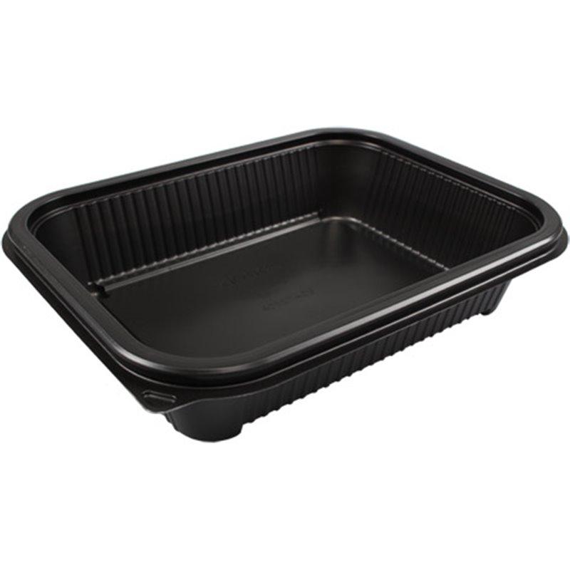 Meal tray Hot Deli Deluxe Base Large Black 1000cc - Horecavoordeel.com