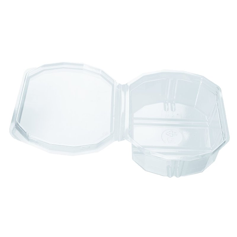 Salad container 8 angled Included Lid 500cc - Horecavoordeel.com