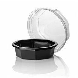 Salad trays octagonal Apet Black - Horecavoordeel.com