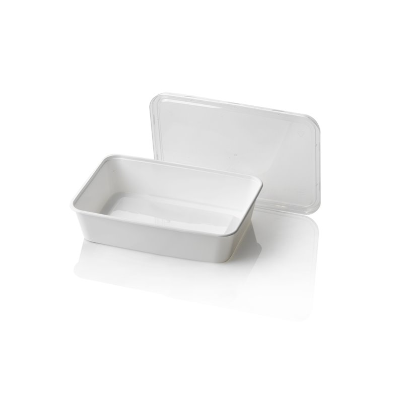 Microwave Meal containers - Bins 173 Series 500cc Rectangle PP White - Horecavoordeel.com