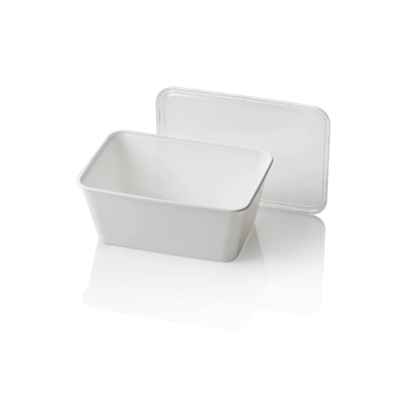 Microwave Meal containers - Bins 173 Series 1000cc Rectangle PP White  - Horecavoordeel.com