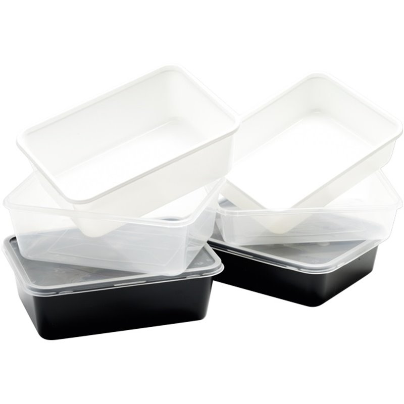 Microwave Meal containers - Bins 173 Series 1000cc Rectangle PP Transparent - Horecavoordeel.com