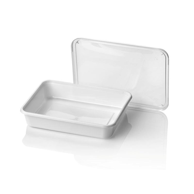 Microwave Meal containers - Bins 182 Series 500cc Rectangle PP White (Small package) - Horecavoordeel.com