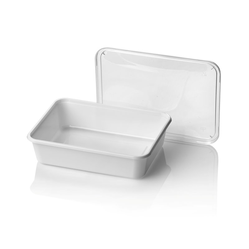 Microwave Meal containers - Bins 182 Series 750cc Rectangle PP White - Horecavoordeel.com