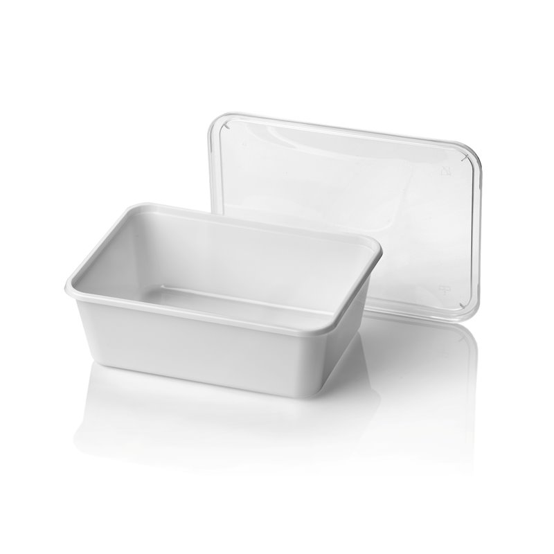 Microwave Meal containers - Bins 182 Series 1000cc Rectangle PP White (Small package) - Horecavoordeel.com