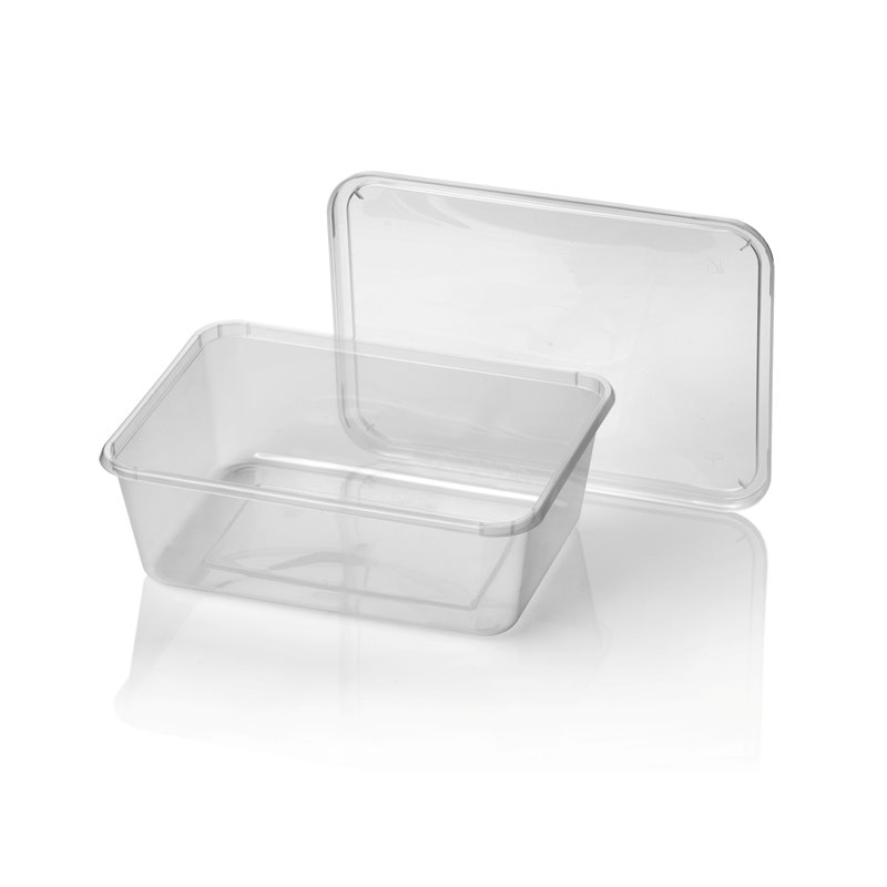 Microwave Meal containers - Bins 182 Series 1000cc Rectangle PP Transparent (Small package) - Horecavoordeel.com