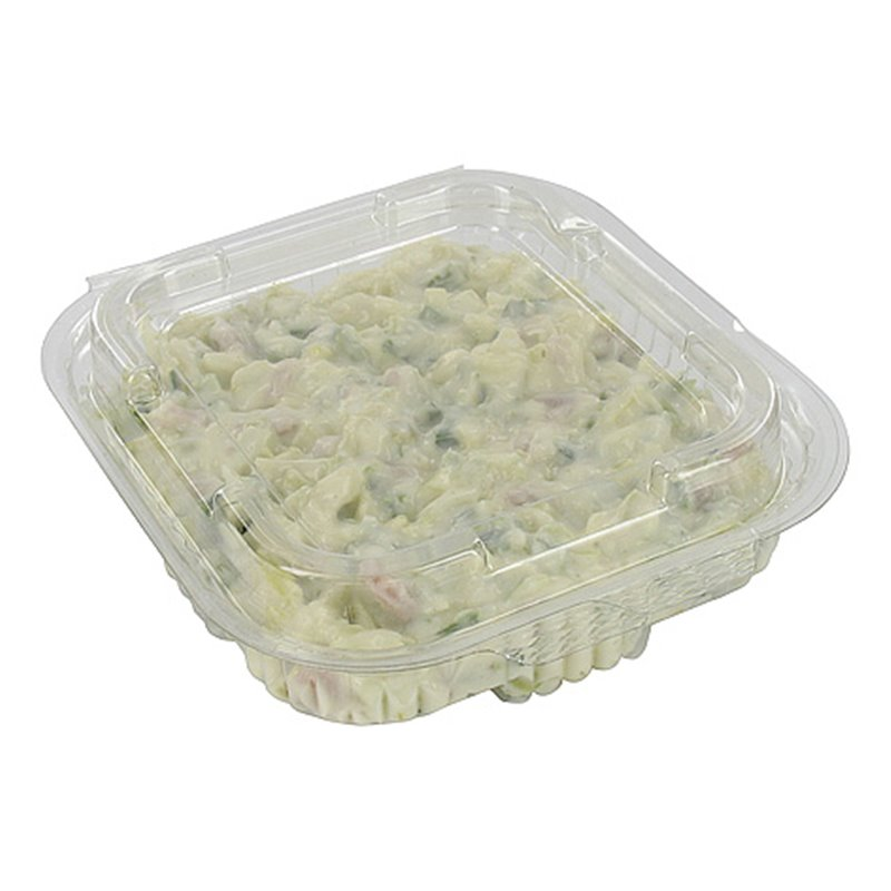 Saladbowl 250cc Transparent square + fixed Lids 132x132x30mm - Horecavoordeel.com