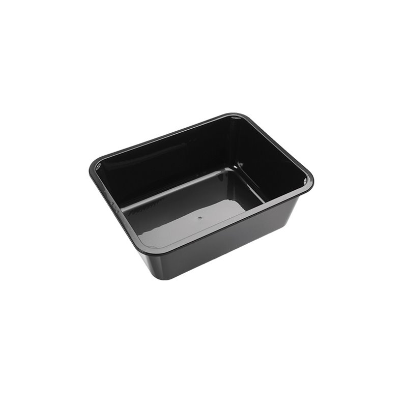 H320 Containers - Bins Np Series 100mm Spg PP 5500cc Black (Small package) - Horecavoordeel.com