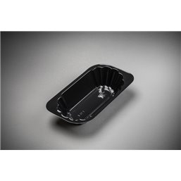 Snack Tray Ku-1 040 PS Black 170x92x37mm 320cc - Horecavoordeel.com