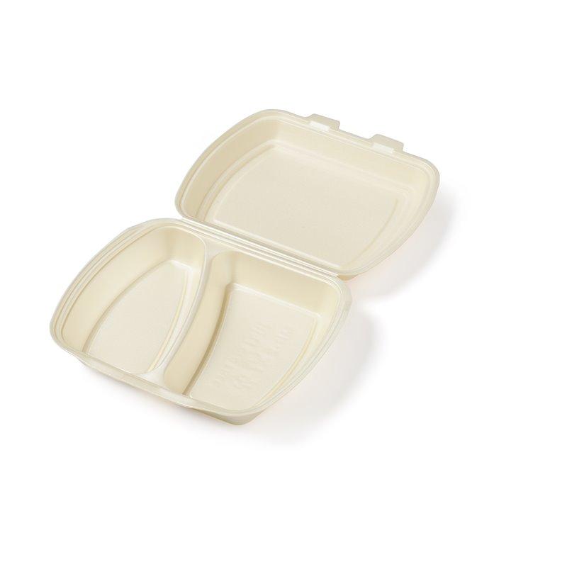 Menu box Beige Ip4 2 compartments 240x195x75mm - Horecavoordeel.com
