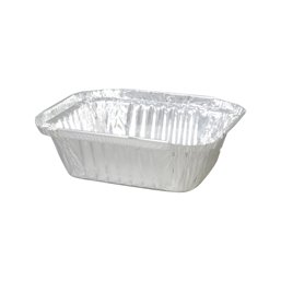 Aluminium Bakken 250cc 122 x 96 x 34mm (Klein-verpakking)