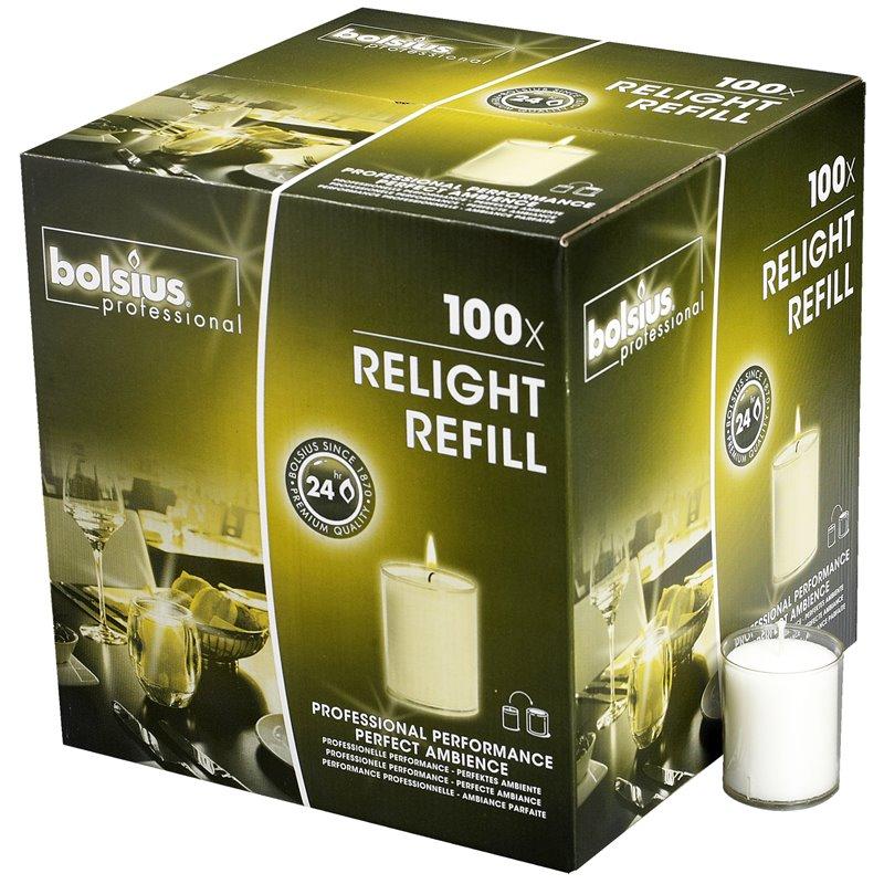 Refills Candles Transparent Bolsius - Horecavoordeel.com
