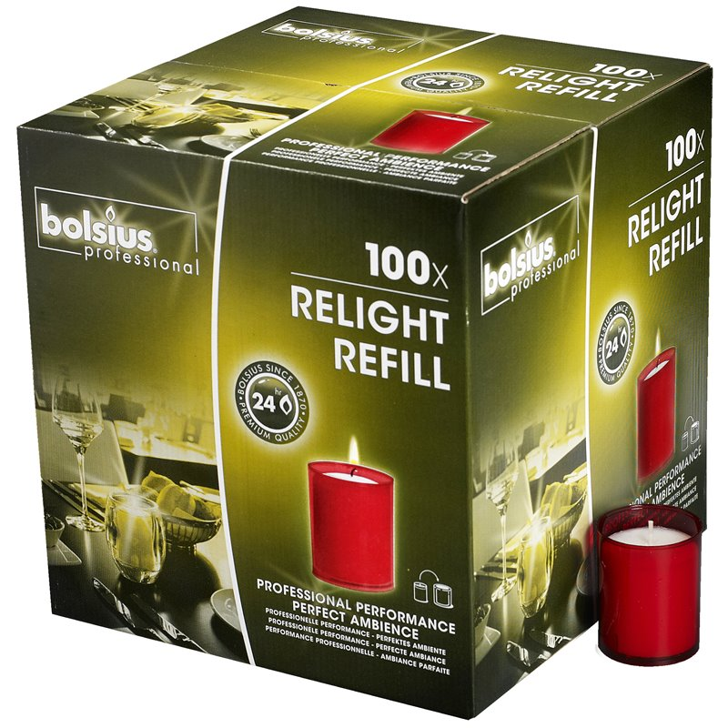 Refills Candles Red Bolsius - Horecavoordeel.com